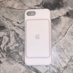 apple white battery case:iphone 7